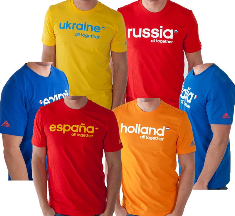 nternational tees zps526ac9c7 ADIDAS T Shirt (Frankreich, Spanien, Russland, Ukraine) für 9,94€