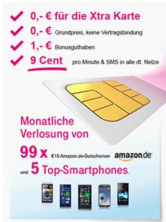 image166 Kostenlose Xtra Card mit 1 Euro Startguthaben