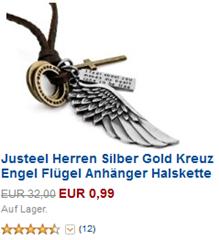 image52 Amazon: Herrenkette ab 99 Cent zzgl. 4,85€ Versandkosten