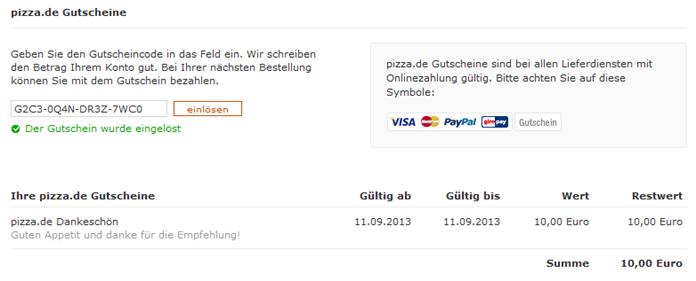 image thumb26 [Beendet] 10€ Pizza.de Gutschein ohne Mindestbestellwert