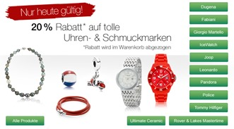 v1 k teaser sonntagsangebote kw38 Galeria Kaufhof: 28% auf bestimmte Uhren und Schmuck