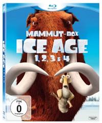image40 Ice Age 1, 2, 3 & 4 (Mammut Box) (4 Blu rays) für 19,97€