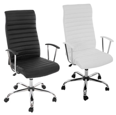 image112 Bürostuhl/Drehstuhl Cagliari in schwarz oder weiß für je 59,99€