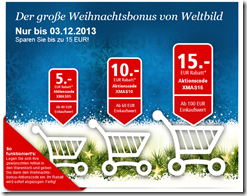 image516 Weltbild.de: 5€ Rabatt ab 40€, 10€ Rabatt ab 60€ und 15€ Rabatt ab 100€