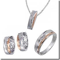 image521 Goldmaid Damenring, Collier oder Creolen Sterlingsilber 925 mit Zirkonia für je 29,95€