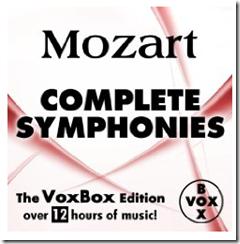 image57 Mozart: Complete Symphonies (The VoxBox Edition) mit 168 Musikstücken für 1,09€ als MP3 Download