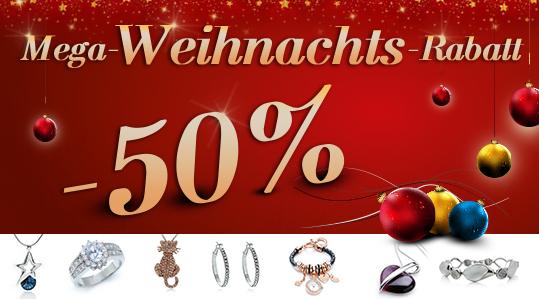Mega-Weihnachts-Rabatt: -50% auf Uhren, Armbänder, Swarovski-Strass,...