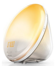 image344 Philips HF3520/01 Wake Up Light (Sonnenaufgangfunktion, digitales FM Radio) weiß für 88,88€