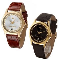 image399 Yves Camani Damen Armbanduhr Golden Twinkle in schwarz oder braun für je 19,95€