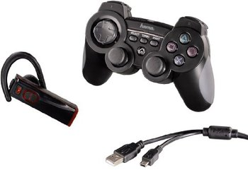 hama ps3 multiplayer set Hama 3 in1 Multiplayer Set (Controller, Headset und Kabel) für PS3 für 16,99€