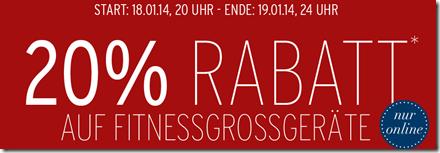 image311 Karstadt: 20% Rabatt auf Fitnessgroßgeräte