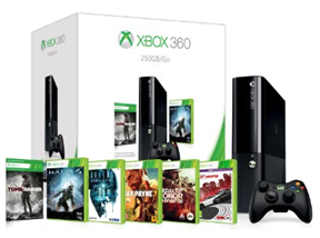 image89 Xbox 360 250GB Mega Pack mit 6 Spielen (Halo4, Need for Speed, Medal of Honor usw.) für 214,47€