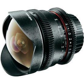 Walimex pro 8/3,8 Fish-Eye Objektiv VDSLR für Canon, Nikon,Sony Alpha