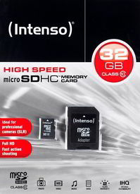 Intenso 32GB Micro SDHC Speicherkarte Class 10 Karte inkl. SDHC Card Adapter