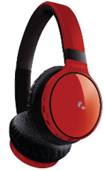 image157 Philips SHB9100RD/00 Bluetooth Kopfhörer mit Freisprechfunktion (Deluxe Floating Cushions, USB Ladekabel, 3,5mm Audio In) für 49,99€