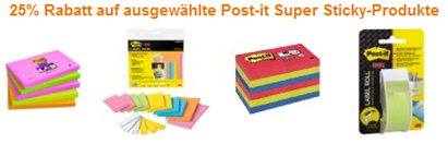 image539 Amazon: 25% Rabatt auf ausgewählte Post it Super Sticky Produkte