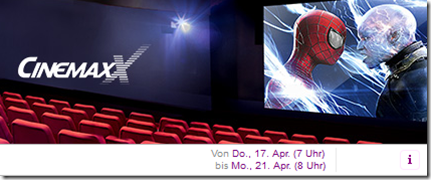 image thumb77 Cinemaxx Kinotickets bei Vente Privee, so z.B. 5 Kinotickets 2D für 28,00€