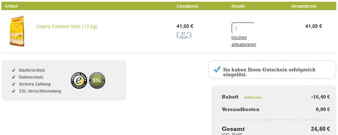 image thumb95 Gutscheinfehler: 40% Rabatt bei Hundeland + Katzenland