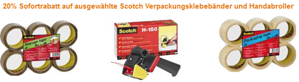 image319 Amazon: 20% Rabatt Scotch Produkte
