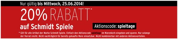 image350 Karstadt: nur heute und morgen 20% Extra Rabatt auf Schmidt Spiele