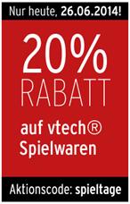 image389 Karstadt: nur heute 20% Extra Rabatt auf vtech Spielwaren