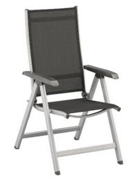 image74 [Top + schnell sein] Kettler Klappsessel Basic Aluminiumgestell silber, Textilene anthrazit für 59,99€ (Vergleich: 80,81€)