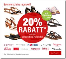 image122 28% Rabatt auf Sommerschuhe für Damen bei Galeria Kaufhof
