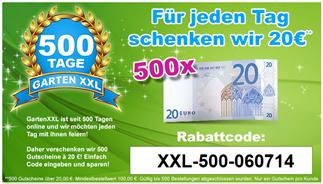 image66 GartenXXL: 20€ Rabatt ab 100€ MBW (nur 500x verfügbar)