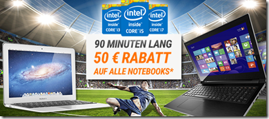 image94 Ab 12Uhr: 90 Minuten 50€ Rabatt auf alle Notebooks mit i Prozessoren bei Notebooksbilliger