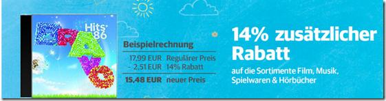 image thumb48 Buch.de: 14% Rabatt auf (fast) alle Artikel