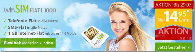image thumb78 WInSIM (Flat in alle Netze, SMS Flat, 1GB Datenflat – o2 Netz) ohne Laufzeit für 14,95€/Monat