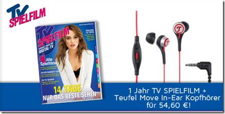 image155 Jahresabo TV Spielfilm + Teufel Move In Ear Kopfhörer (Vergleich 68,50€) für 54,60€