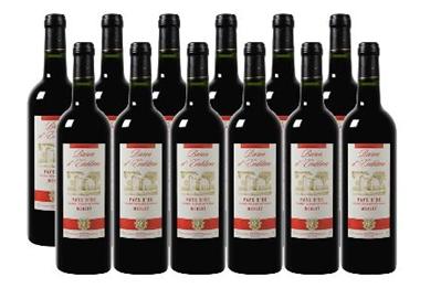 image173 Nur heute: 18 Flaschen Wein für nur 34,20€ (12x Merlot + 6x Gratis Wein Primitivo oder Sauvignon Blanc)
