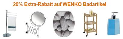 image248 Amazon: 20% Extra Rabatt auf Wenko Badartikel