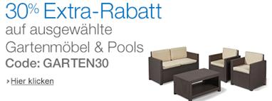 image388 Amazon: 30% Extra Rabatt auf Gartenmöbel, Pools & Sonnenschirme