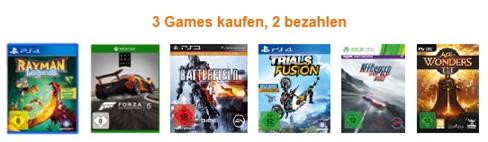 image393 Amazon: 3 für 2 Aktion – 3 Games kaufen, nur 2 bezahlen
