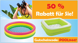 image423 Baby Markt: 50% Extra Rabatt auf bereits reduzierte Planschbecken