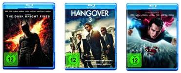 image thumb128 Hangover 3 [Blu ray] für 4,99€, Man of Steel [Blu ray] für 4,99€ oder The Dark Knight Rises [Blu ray] für 5,02€