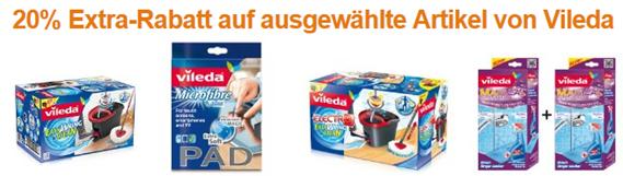 image1 Amazon: 20% Extra Rabatt auf ausgewählte Artikel von Vileda