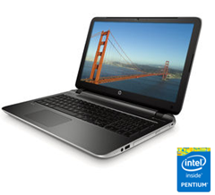 image235 HP 15 p025ng 39,6 cm (15,6 Zoll) Note­book (Intel Pen­tium N3530, 2,1GHz, 4GB RAM, 500GB HDD, Intel HD, DVD, DOS) für 299€