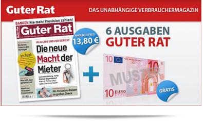 image249 7 x Zeitschrift Guter Rat für 3,80€ dank Verrechnungscheck