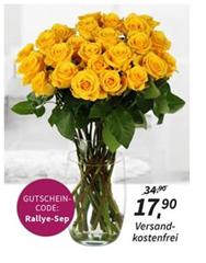 image25 Mindestens 10 gelbe Rosen (Stiellänge 60cm) für 17,90€
