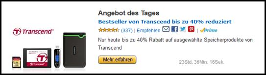 image3 Nur heute: bis zu 40% Rabatt auf die Bestseller von Transcend