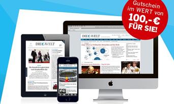image422 1. Jahr Welt Digital Komplett inkl. 100€ NH Hotel Gutschein für 99,99€