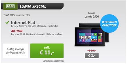 image496 [Knaller] Nokia Lumia 2520 inkl. 500MB Datenflat für 265€ Gesamtkosten (Vergleich: 400,95€)