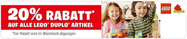 image5 Galeria Kaufhof: 20% Rabatt auf alle Lego Duplo Artikel + 10% Newsletter Rabatt