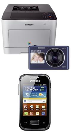 image501 Samsung CLP 680DW Farb Laserdrucker inkl. Samsung DV150F Smart Kamera + Samsung Mobiltelefon S5301 für 296,31€
