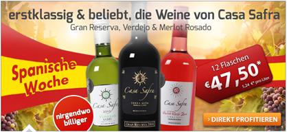 image509 Weinvorteil: 12 Flaschen von Casa Safra für 39,00€ inklusive Versand
