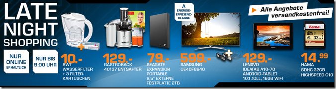 image thumb56 Die Saturn Late Night Shopping Angebote