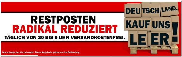 image thumb66 Media Markt Restposten Verkauf von 20Uhr bis 9Uhr